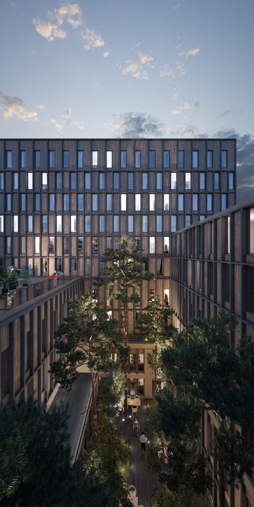 Supervue la architecture eqt hotel rue du faubourg saint martin Medium