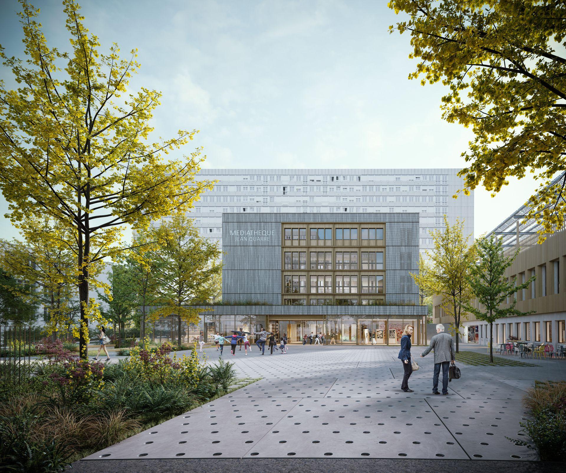 Supervue la architecture eqt paris mediatheque jean quarreMedium
