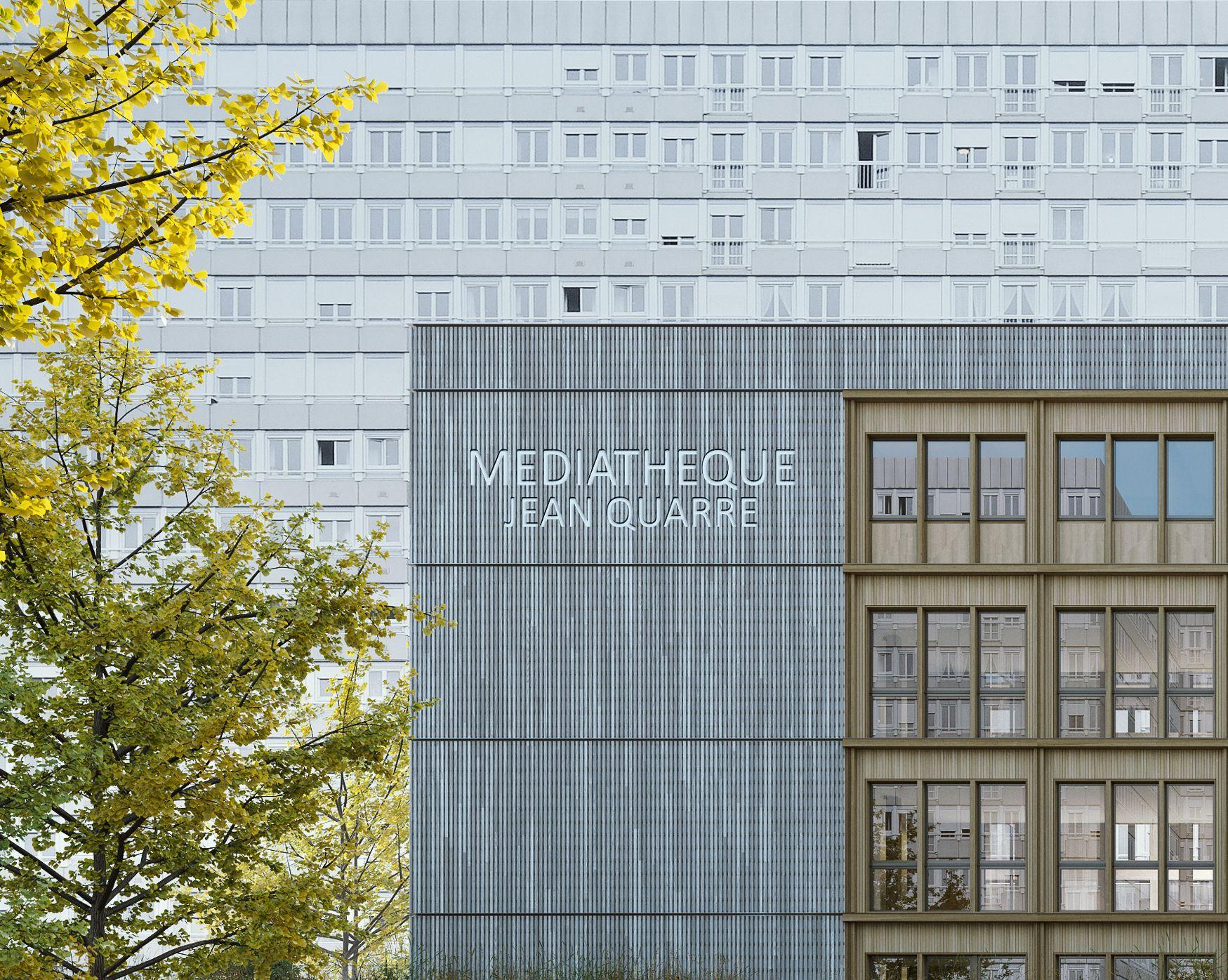Supervue la architecture eqt paris mediatheque jean quarre Medium