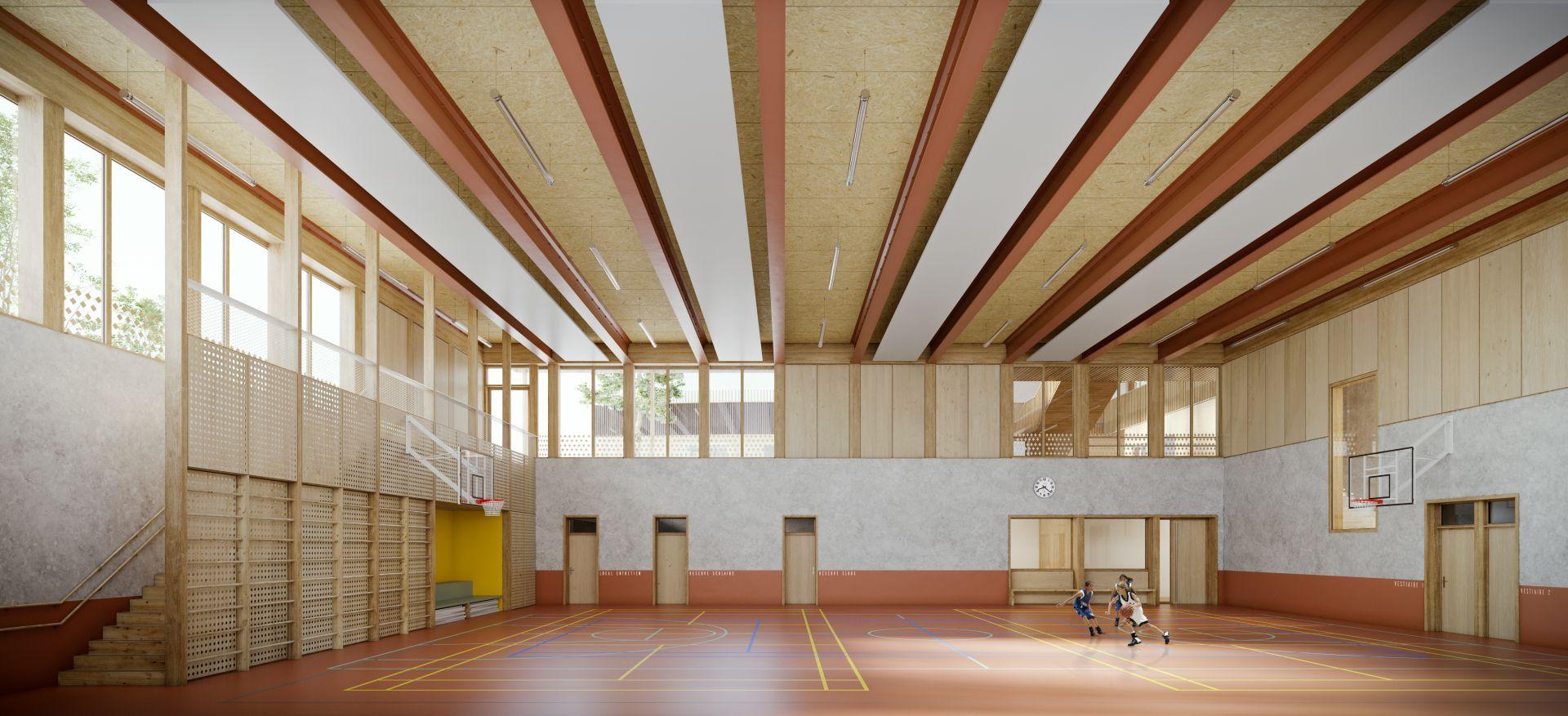 Supervue la architectures eqt equipement scolaire et sportif a chevilly la rue Medium